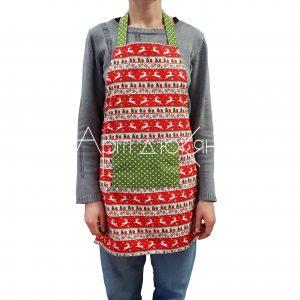 Коледна готварска престилка
