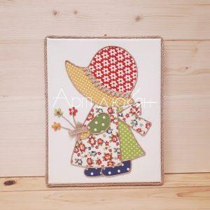 "Картина - ""Момиченце с цветя"""